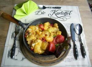 Kartoffel-Kaese-Pfanne