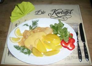Scholle-in-Orangen-Sauce
