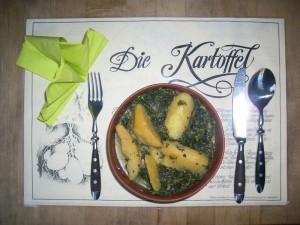 Indische Kartoffeln mit Spinat