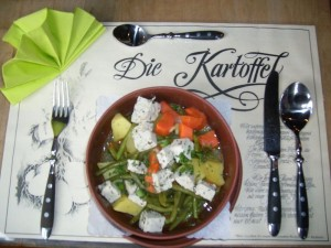 Tofu-Kartoffel-Pfanne Soja vegetarische Kücherezepte