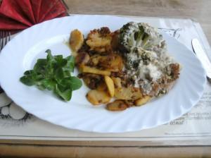 Brokkoli-Hackfleisch-Gratin