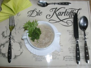 Champignon-Kartoffel-Suppe