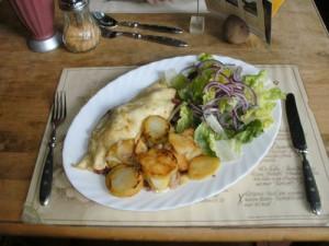 Omelett mit Pfifferlingen