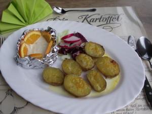 Orangenkartoffeln mit Orangendip