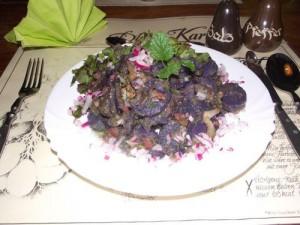 Blauer Kartoffelsalat