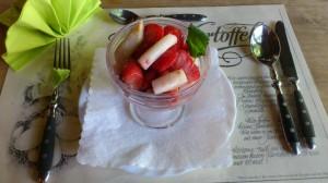 Spargel-Erdbeer-Dessert