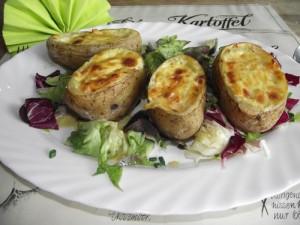 Gebackene Pfannfisch-Kartoffel