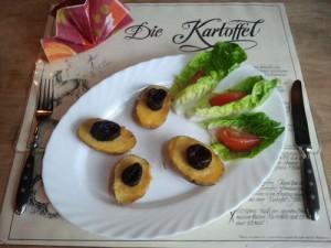 Raclettkartoffeln mit Trockenpflaumen