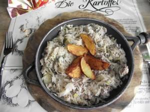 Sauerkraut-Hack-Pfanne