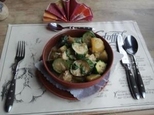Zucchini-Fisch-Eintopf
