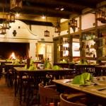 Restaurant mit Feuer