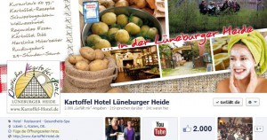 2000 Fans auf unserer Kartoffel-Hotel Facebook Seite