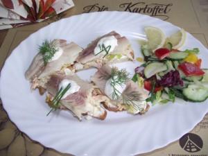Fingerfood Snack mit geräuchertem Forellenfile