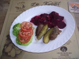 Rote Bete-Gemüse mit Zwiebeln