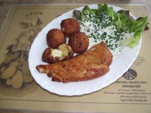 Gefüllte Kartoffelkroketten