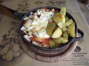 überbackenes spargel-tomaten-gemüse