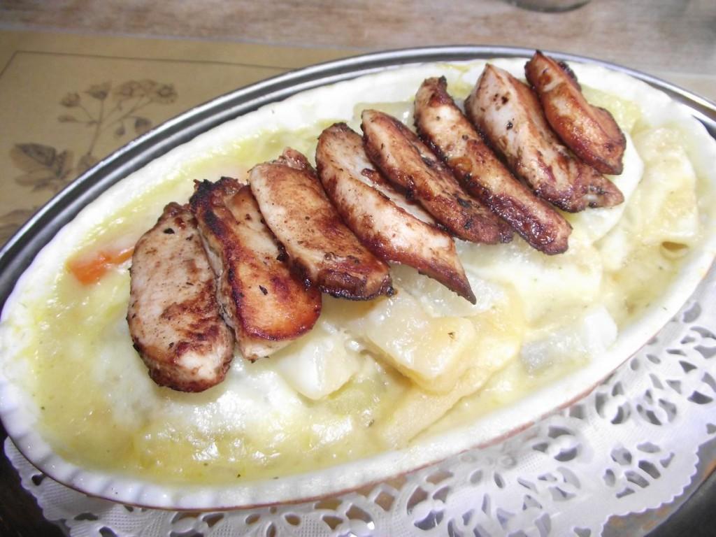 Kartoffelauflauf mit Hähnchenbrust