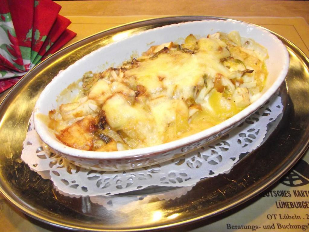 Kartoffelauflauf mit Nüssen