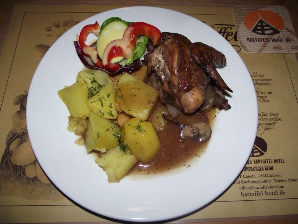 Huhn in Rotweinsauce - Coq au vin