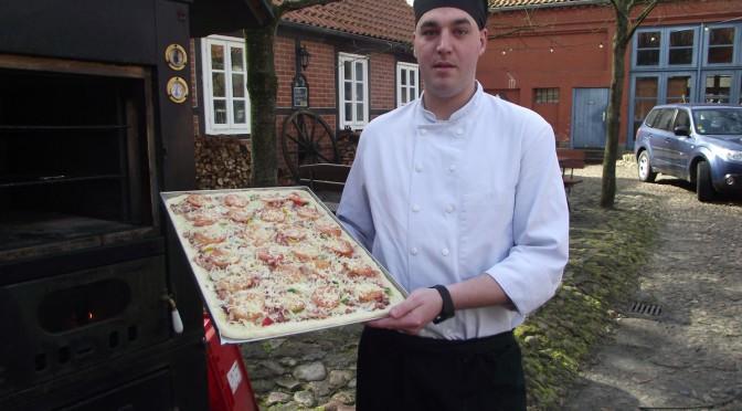 Kartoffelpizza mit Hefeteig