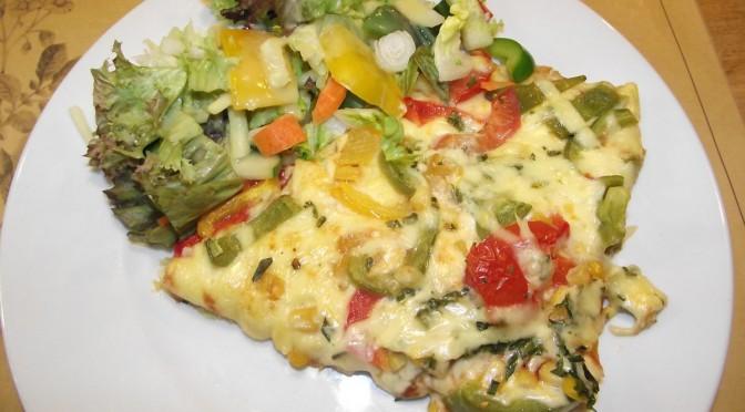 Gemüse-Kartoffelpizza