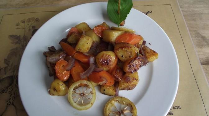 Karamellisierte Kartofffel-Gemüsepfanne