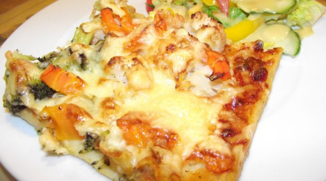 Kartoffel-Quark-Pizza mit Gemüse