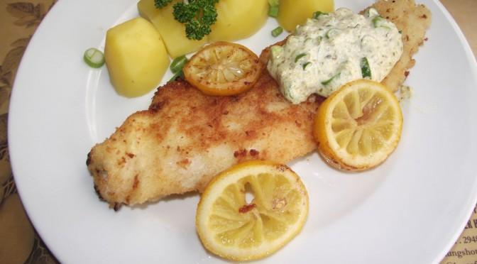 Bratfisch mit Kräuter-Remoulade