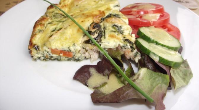 Gemüse-Hähnchen-Frittata