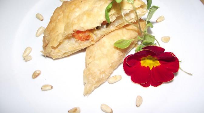 Kohlrabi-Möhren-Gemüse im Blätterteig