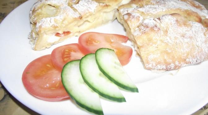 Kartoffelpizza – zugedeckt