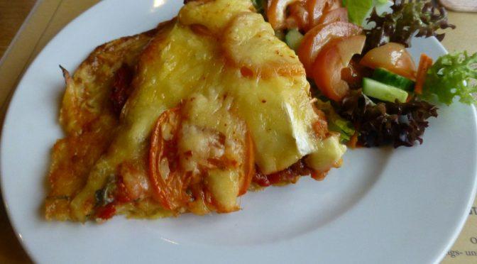 Kartoffel-Vier-Käsepizza
