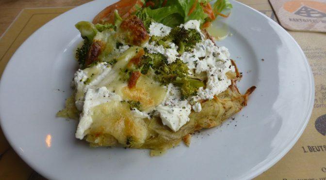 Kartoffelpizza mit Brokkoli