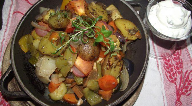 Schmorgemüse aus dem Ofen