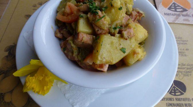 Kartoffel-Bohnen-Pfanne mit Kasseler