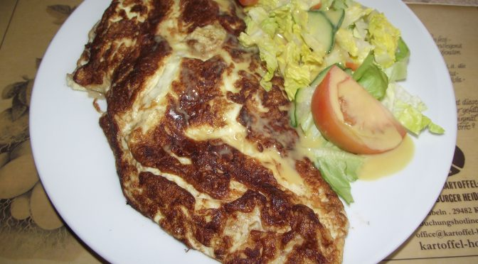 Omelett mit Champignons
