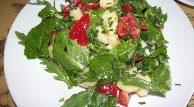 Kartoffel-Löwenzahn-Salat