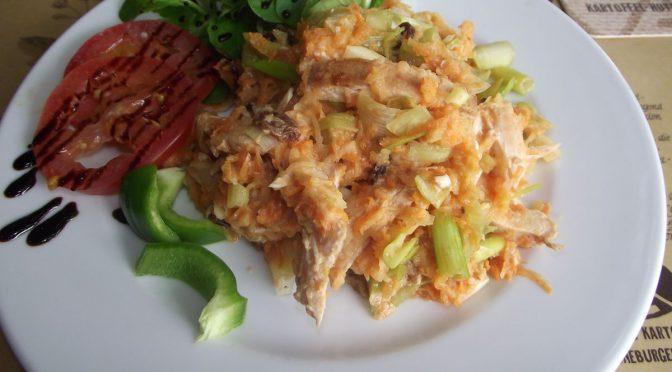 Lauch-Hähnchensalat mit Curry