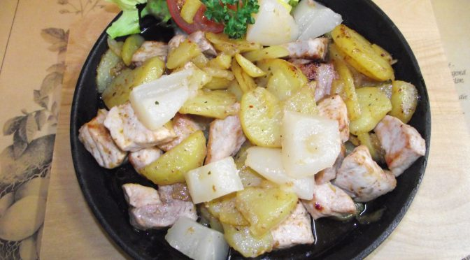 Oma's Fleisch- und Kartoffelpfanne