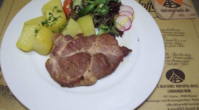 Süsse Knoblauch-Schweinekoteletts