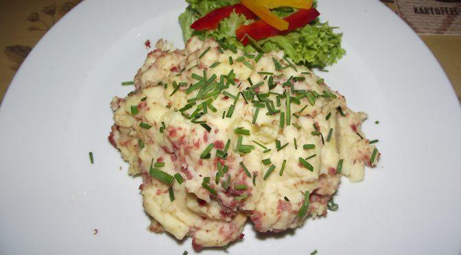 Stampfkartoffeln mit Speck