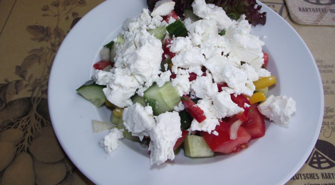 Tomatensalat mit Fetakäse