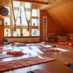 Yoga Raum 1 mit ganz viel Gemütlichkeit