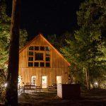 Unser neues Yoga Waldhaus bei Nacht