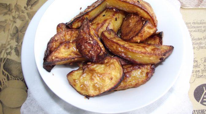 Süsskartoffeln mit Soja-Sesam-Glasur