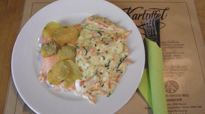 Lachsfilet mit Kartoffel-Kruste