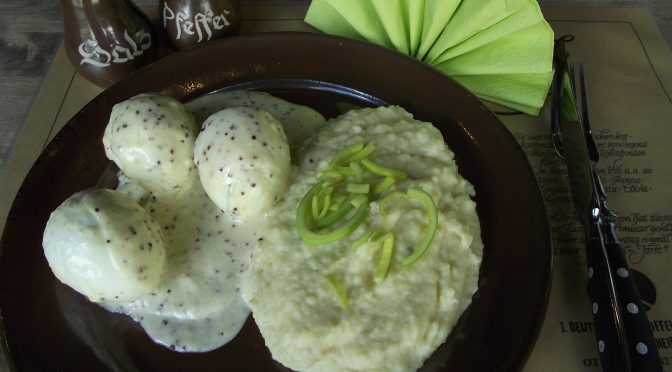 Kartoffelpüree mit Senf-Ei